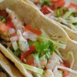 Fish taco with salsa