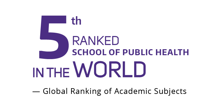 5th ranked School of Public Health in the World, global ranking of academic subjects