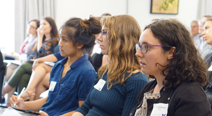 Students attending an MPH symposium