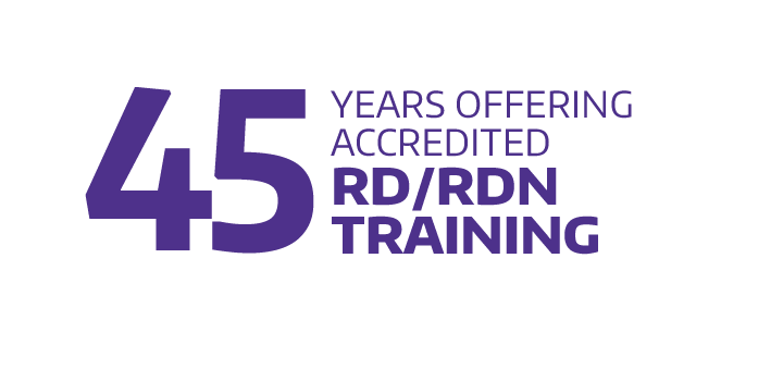 45 years offering accredited RDN training