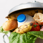 Edible food thrown into consumer trash can
