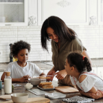 Photo of family preparing a meal