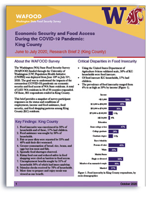 WAFOOD Survey Brief 2 on King County - document preview thumbnail