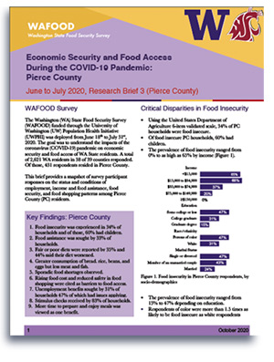 WAFOOD Survey Brief 3 on Pierce County - document preview thumbnail