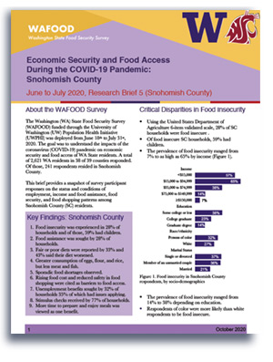 WAFOOD Survey Brief 5 on Snohomish County - document preview thumbnail