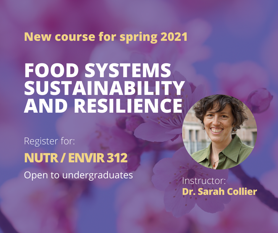 Food Systems Sustainability and Resilience NUTR 312
