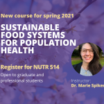 Sustainable Food Systems for Population Health