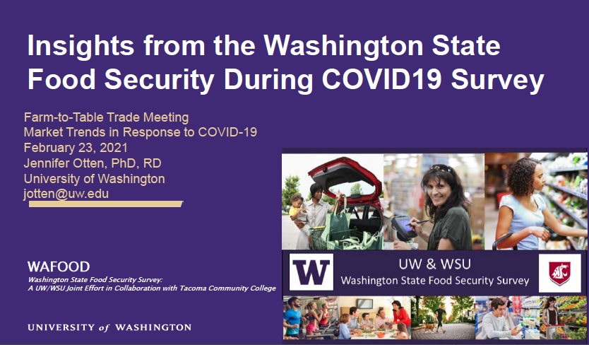 Insights from the Washington State Food Security During COVID-19 Survey slide preview
