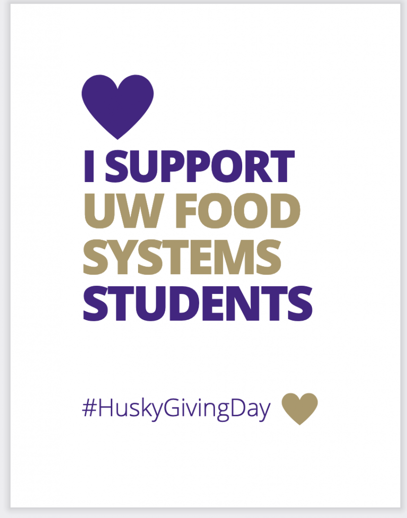 I Support UW Food Systems Students