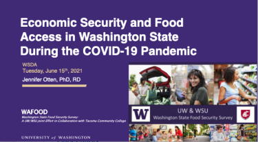 Economic Security and Food Access in Washington State During the COVID-19 Pandemic